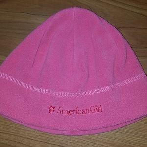 Girls American Girl pink beanie